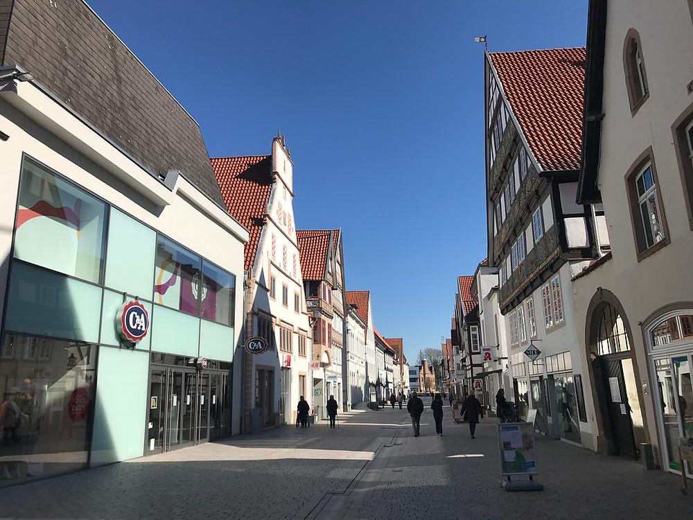 Lemgo, Mittelstraße, Fußgängerzone