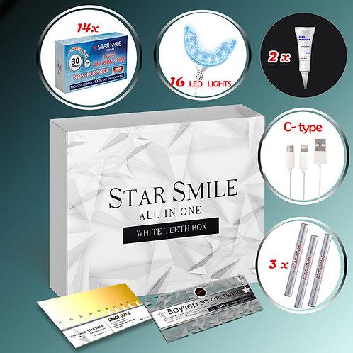 Кутия All in ONЕ Star Smile Без Пероксид за чувствителни зъби - 20 части