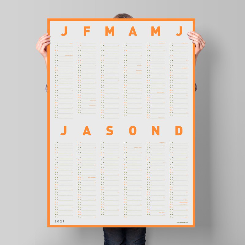 2021 foxandpoet Neon-Kalender