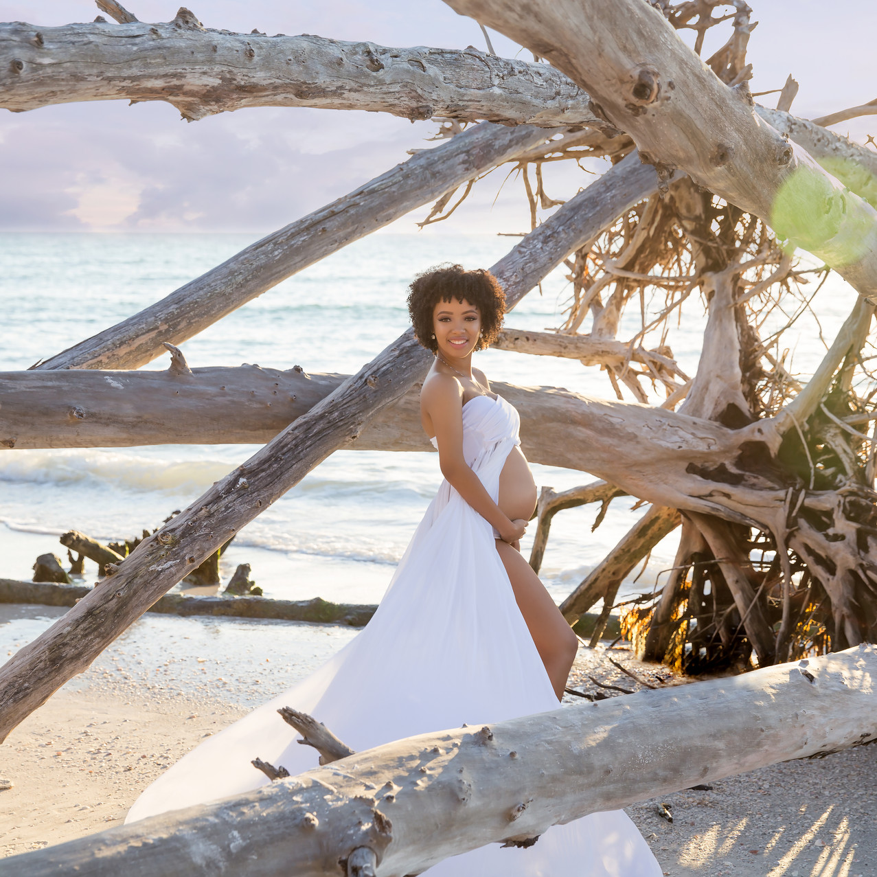 Tampa beach maternity- driftwood