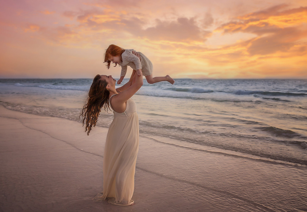 Beach lifestyle family session here in Tampa, Fl