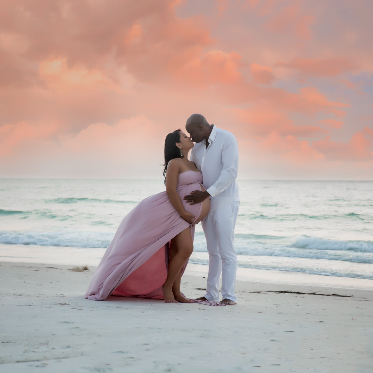 Tampa beach maternity photographer