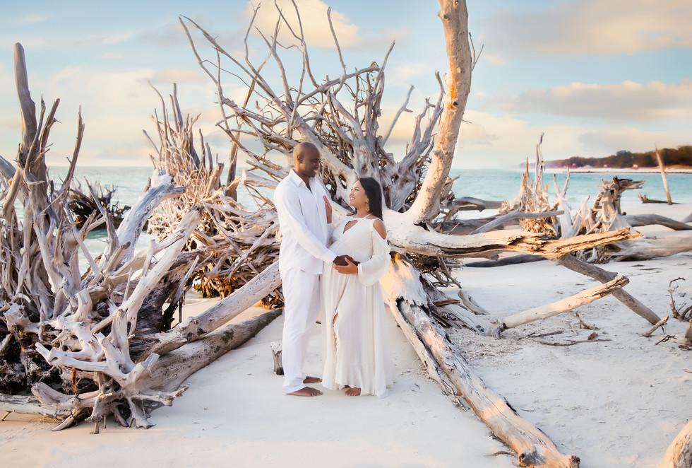Team Twins! Driftwood Beach-Tampa Maternity Photographer