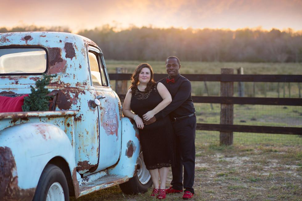 The Desir Family| Tampa Family Photographer: Rachel Rayne Photography Christmas Truck Mini sessions|