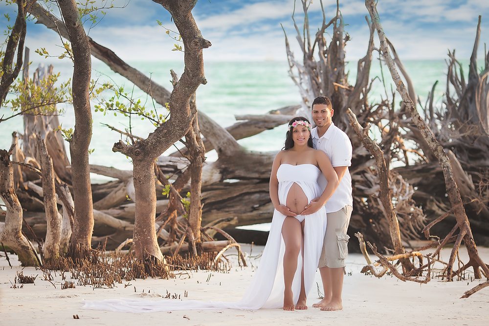 """Tampa Maternity Photography on the beach, by Tampa Maternity Photographer Rachel Rayne."""