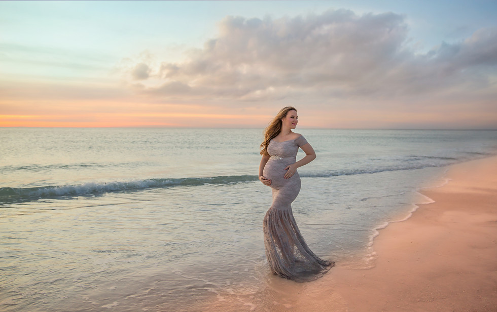 Best Maternity Photographer in Tampa- Rachel Rayne Photography's published beach Maternity photo