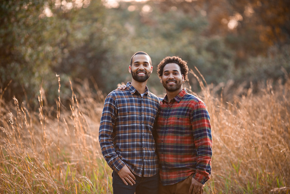 Two brothers during fall family session in Brandon fl