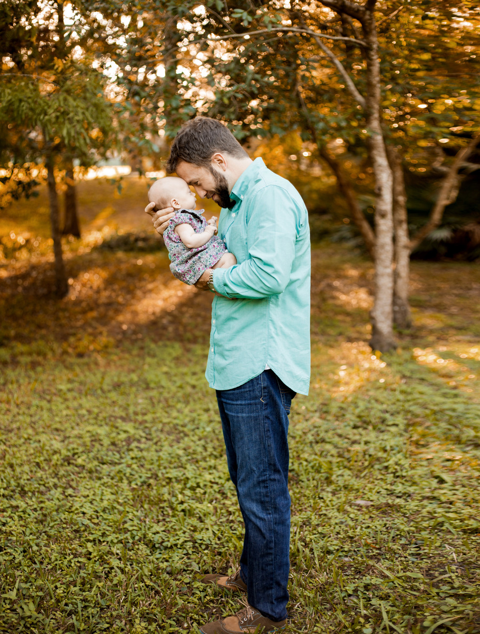 Newborn-Family- Photo session at Lowry Park