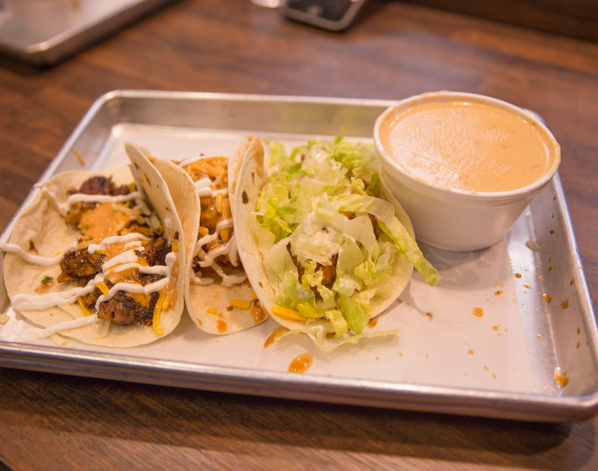 Capital tacos! Tacos and Queso!