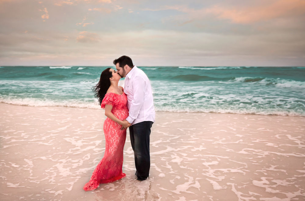 Beach maternity session at Siesta Key beach