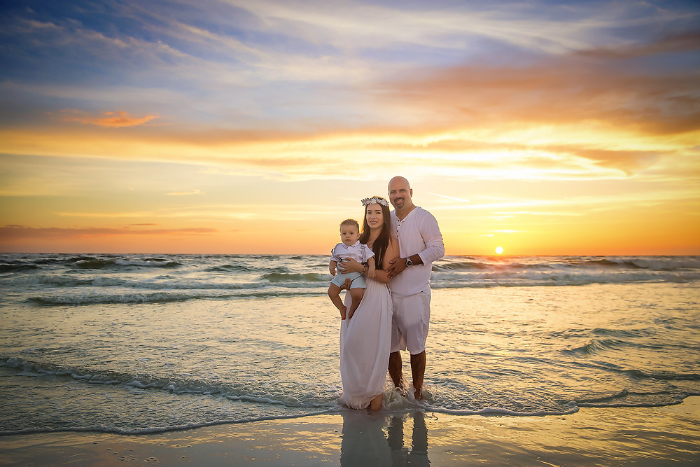 Tampa family beach photography at Siesta Key beach