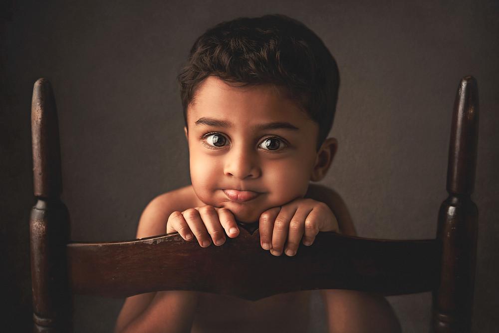 Published fine art children portrait of little boy in Tampa