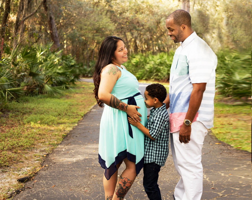 Maternity session at Lettuce lake park in Tampa Florida