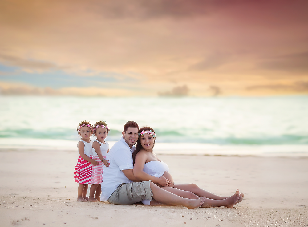 """Tampa Florida Maternity Photography on the beach, by Tampa Maternity Photographer Rachel Rayne."""