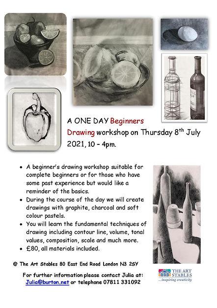 Beginners Drawing Workshop 8 July 2021,