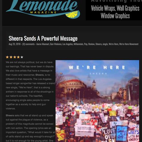 Lemonade feature article