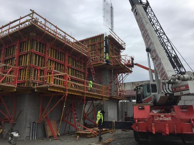 Clay st. Elevator Core Formwork