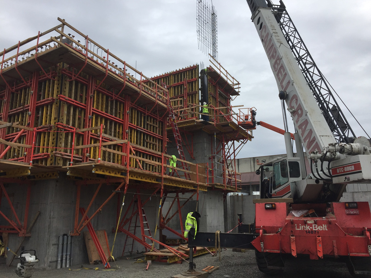 Clay st. Elevator Core Formwork