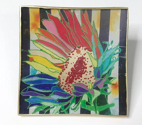 Navy Stripe Sunflower