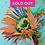 Thumbnail: Rainbow SUnFlower, GREEN center, SKY BLUE background