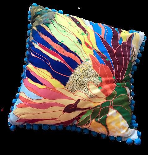 Hot Tropics Pillow - AQUA