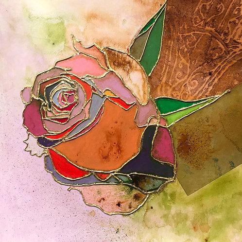 Rose with Hamsa