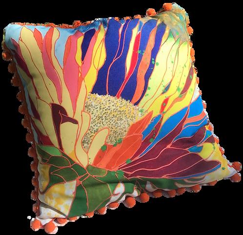 Hot Tropics Pillow - ORANGE