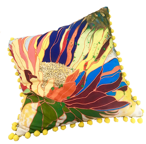 Hot Tropics Pillow - YELLOW