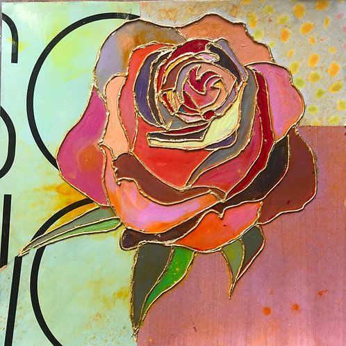 Rose with PopArt Paper