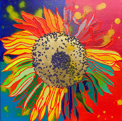 12X12 Sunflower, Color Block