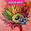 Thumbnail: Rainbow SUnFlower, NAVY center, SALMON PINK background