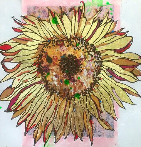 Golden Sunflower on Ann Wood's Nest