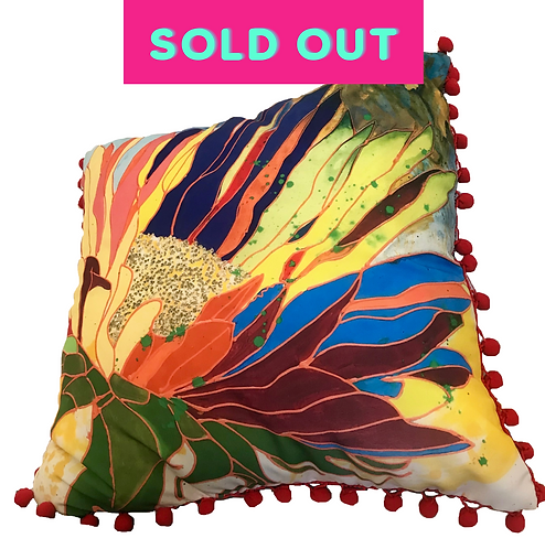 Hot Tropics Pillow -RED