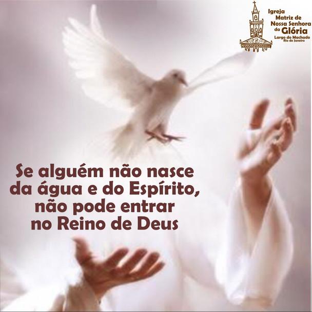 Se alguém não nasce da água e do Espírito, não pode entrar no Reino de Deus.