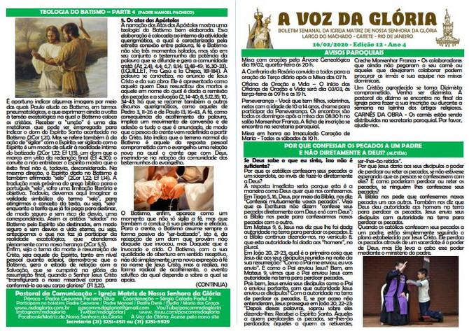 A Voz da Glória  edição 012 Ano 04 - Fevereiro de 2020
