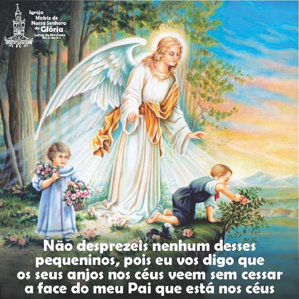 Não desprezeis nenhum desses pequeninos, pois eu vos digo que os seus anjos nos céus veem sem cessar