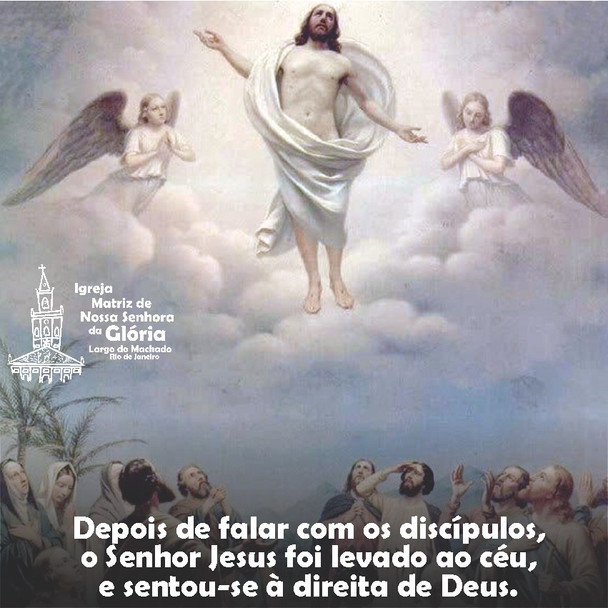 Depois de falar com os discípulos, o Senhor Jesus foi levado ao céu, e sentou-se à direita de Deus.