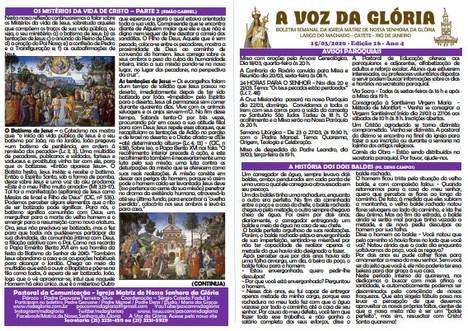 A Voz da Glória  edição 16 Ano 04 - Março de 2020