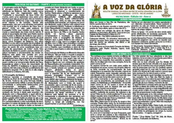 A Voz da Glória  edição 10 Ano 04 - Fevereiro de 2020