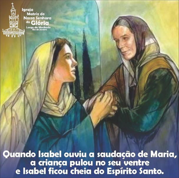 Quando Isabel ouviu a saudação de Maria, a criança pulou no seu ventre