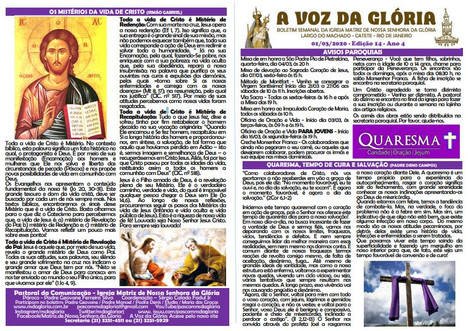 A Voz da Glória  edição 14 Ano 04 - Fevereiro de 2020