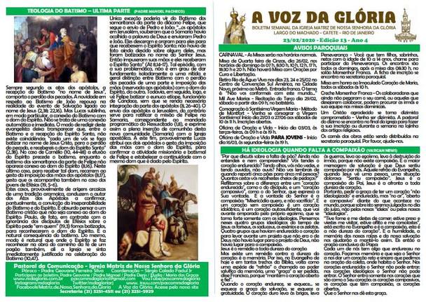 A Voz da Glória  edição 13 Ano 04 - Fevereiro de 2020