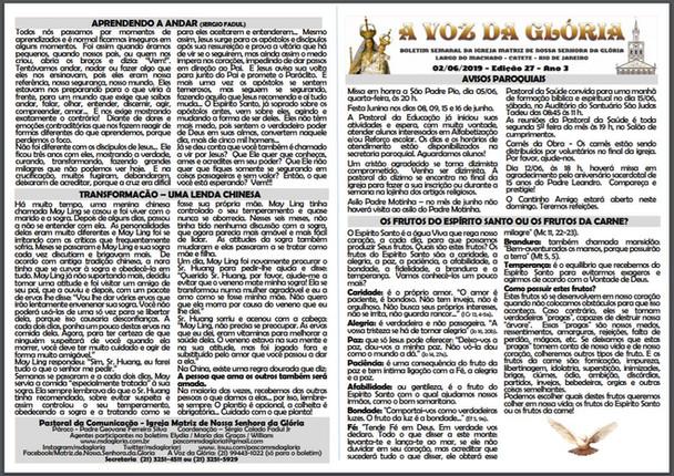 A Voz da Glória  edição 027 Ano 03 - Junho 2019