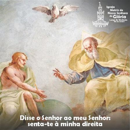 Disse o Senhor ao meu Senhor: senta-te à minha direita Mc 12,36