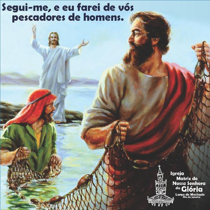 """'Segui-me, e eu farei de vós pescadores de homens."""" Mt 4,19"""