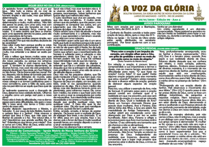 A Voz da Glória  edição 09 Ano 04 - Janeiro de 2020