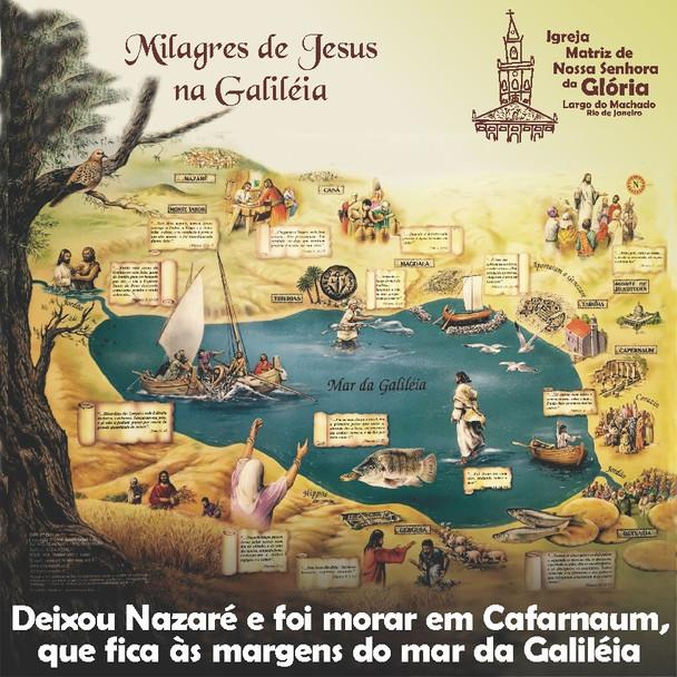 """""""Deixou Nazaré e foi morar em Cafarnaum, que fica às margens do mar da Galiléia"""" Mt 4,13"""