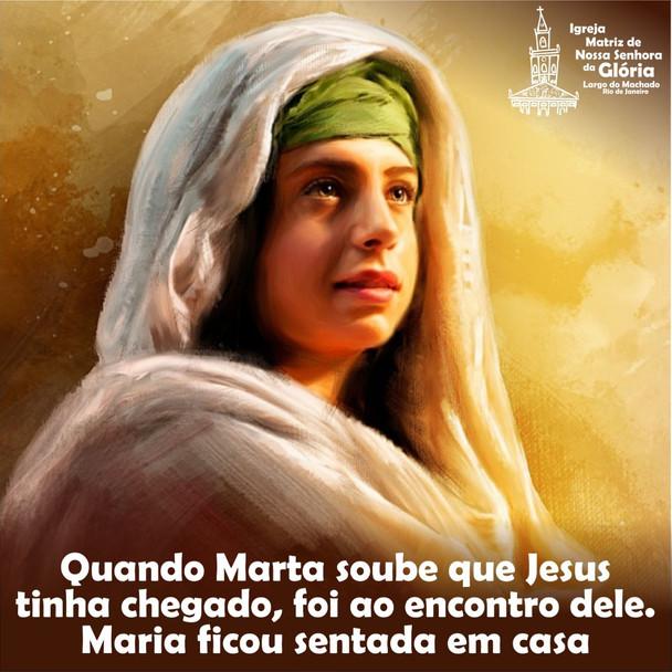 Quando Marta soube que Jesus tinha chegado, foi ao encontro dele. Maria ficou sentada em casa.