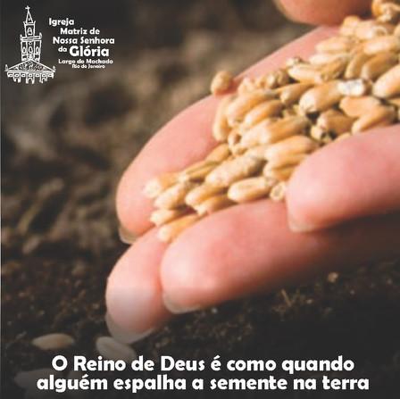 O Reino de Deus é como quando alguém espalha a semente na terra. Mc 4,26