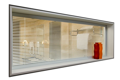 Bifold Direct - Integral glass blinds
